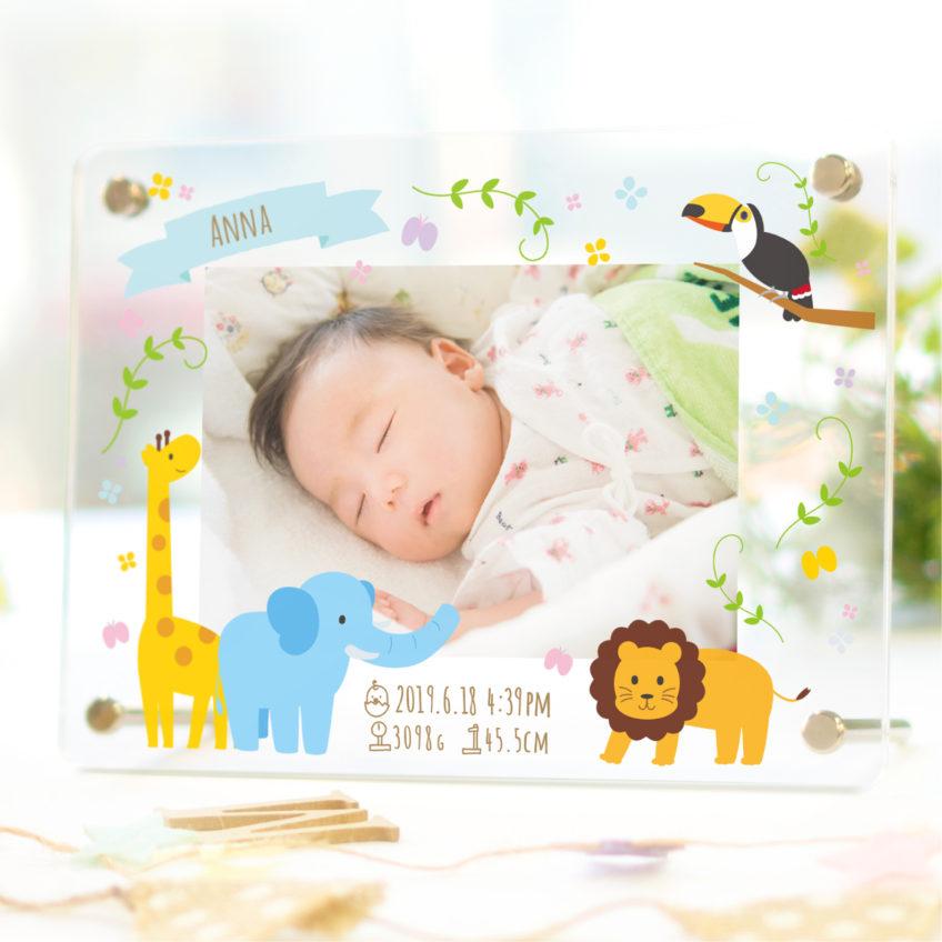 【新商品】「ミニサイズ」ベビー名入れメモリアルフォトフレーム 新発売